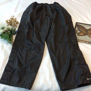 Nike Tear Away Windbreaker Pants Black XL Snaps